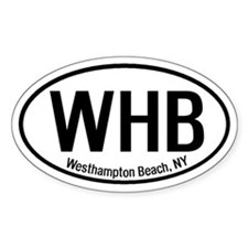 Westhampton Beach, NY Oval Decal
