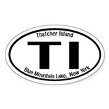 Thatcher Island, New York Oval  Aufkleber