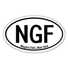 Niagara Falls, New York Oval Decal