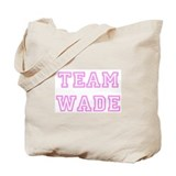 Pink team Wade Tote Bag