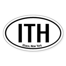Ithaca, New York Oval Decal