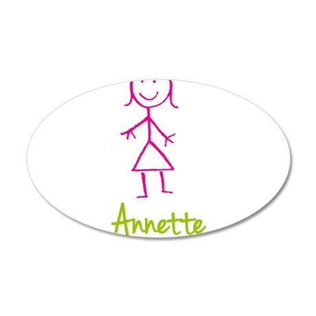 Annette-cute-stick-girl.png 35x21 Oval Wall Decal