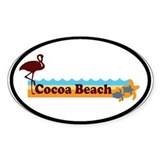 Cocoa Beach - Beach Design. Decal