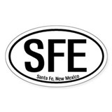 Santa Fe, New Mexico Oval Decal