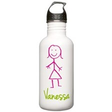 Vanessa-cute-stick-girl.png Water Bottle