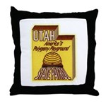 Utah State Patrol Polygamy Playground Throw Pillow
