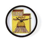 Utah State Patrol Polygamy Playground Wall Clock