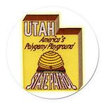Utah State Patrol Polygamy Playground Round Car Ma