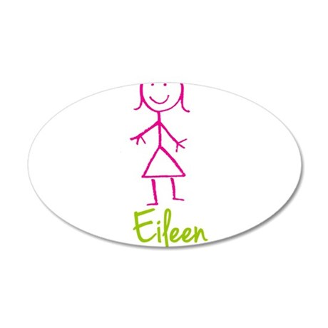 Eileen-cute-stick-girl.png 20x12 Oval Wall Decal