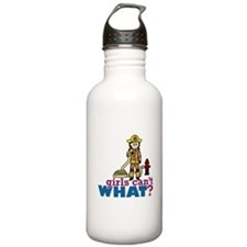 Woman Firefighter Water Bottle