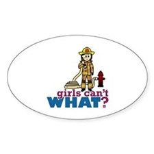 Woman Firefighter Decal