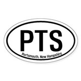 Portsmouth, New Hampshire Oval Decal