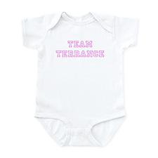 Pink team Terrance Onesie