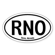 Reno, Nevada Oval Decal