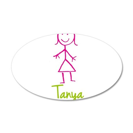 Tanya-cute-stick-girl.png 20x12 Oval Wall Decal