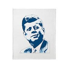 John F Kennedy Tribute Throw Blanket