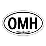 Omaha, Nebraska Oval Decal