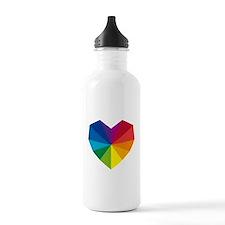 Geometric Heart Water Bottle