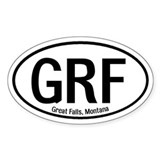 Great Falls, Montana Oval Decal