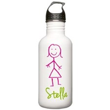 Stella-cute-stick-girl.png Water Bottle