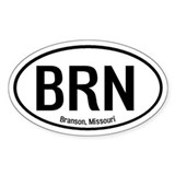 Branson, Missouri Oval Decal