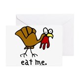 """eat me"" Turkey Greeting Cards (Pk of 10)"