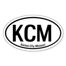 Kansas City, Missouri Oval Decal