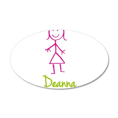 Deanna-cute-stick-girl.png 20x12 Oval Wall Decal
