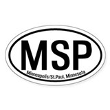 Minneapolis St. Paul, Minnesota Oval Decal