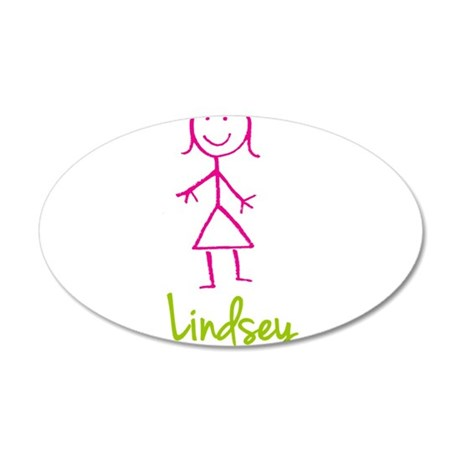Lindsey-cute-stick-girl.png 35x21 Oval Wall Decal