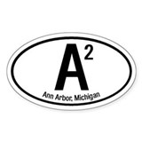 Ann Arbor, Michigan Oval Decal