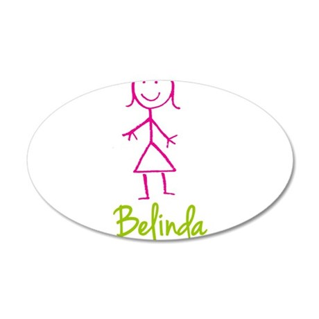 Belinda-cute-stick-girl.png 35x21 Oval Wall Decal