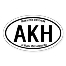 Arkham, Massachusetts Oval Decal