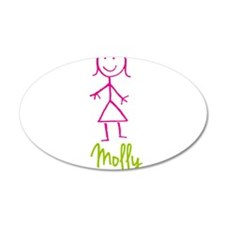 Molly-cute-stick-girl.png Wall Sticker