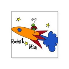 "Rocket Man Square Sticker 3"" x 3"""