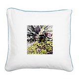 Losing the Power Grid Square Canvas Pillow