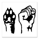 Animal and Human liberation. Square Car Magnet 3""