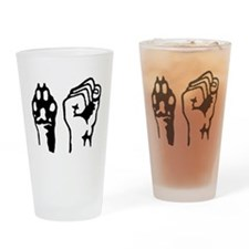 Animal and Human liberation. Drinking Glass