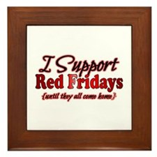 I support Red Fridays Framed Tile