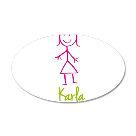 Karla-cute-stick-girl.png 20x12 Oval Wall Decal