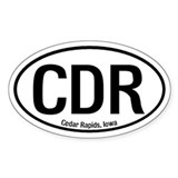 Cedar Rapids, Iowa Oval Decal