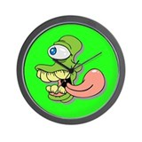 Green Cyclops Monster Wall Clock