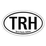 Terre Haute, Indiana Oval Decal