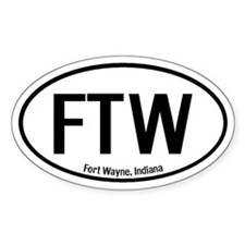 Fort Wayne, Indiana Oval Decal
