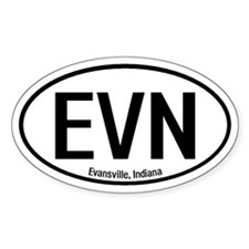 Evansville, Indiana Oval Decal