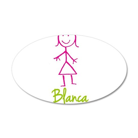 Blanca-cute-stick-girl.png 20x12 Oval Wall Decal