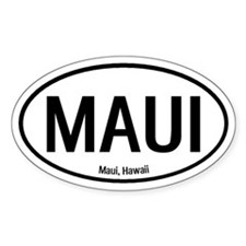 Maui, Hawaii Oval Decal