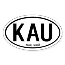Kauai, Hawaii Oval Decal