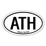 Athens, Georgia Oval Decal