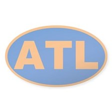 Atlanta, Georgia Oval Decal